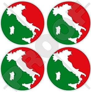 "Italia Italia 50mm (2"") bumper-helmet de vinilo pegatinas, calcomanías x4"