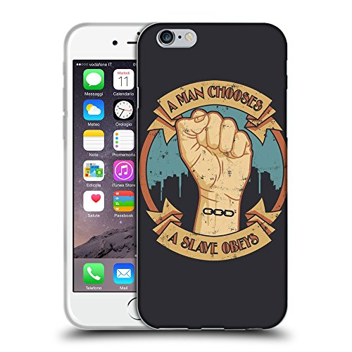 Just Phone Cases Coque de Protection TPU Silicone Case pour // V00004063 Homme choisir - obey esclave // Apple iPhone 6 6S 6G PLUS 5.5""