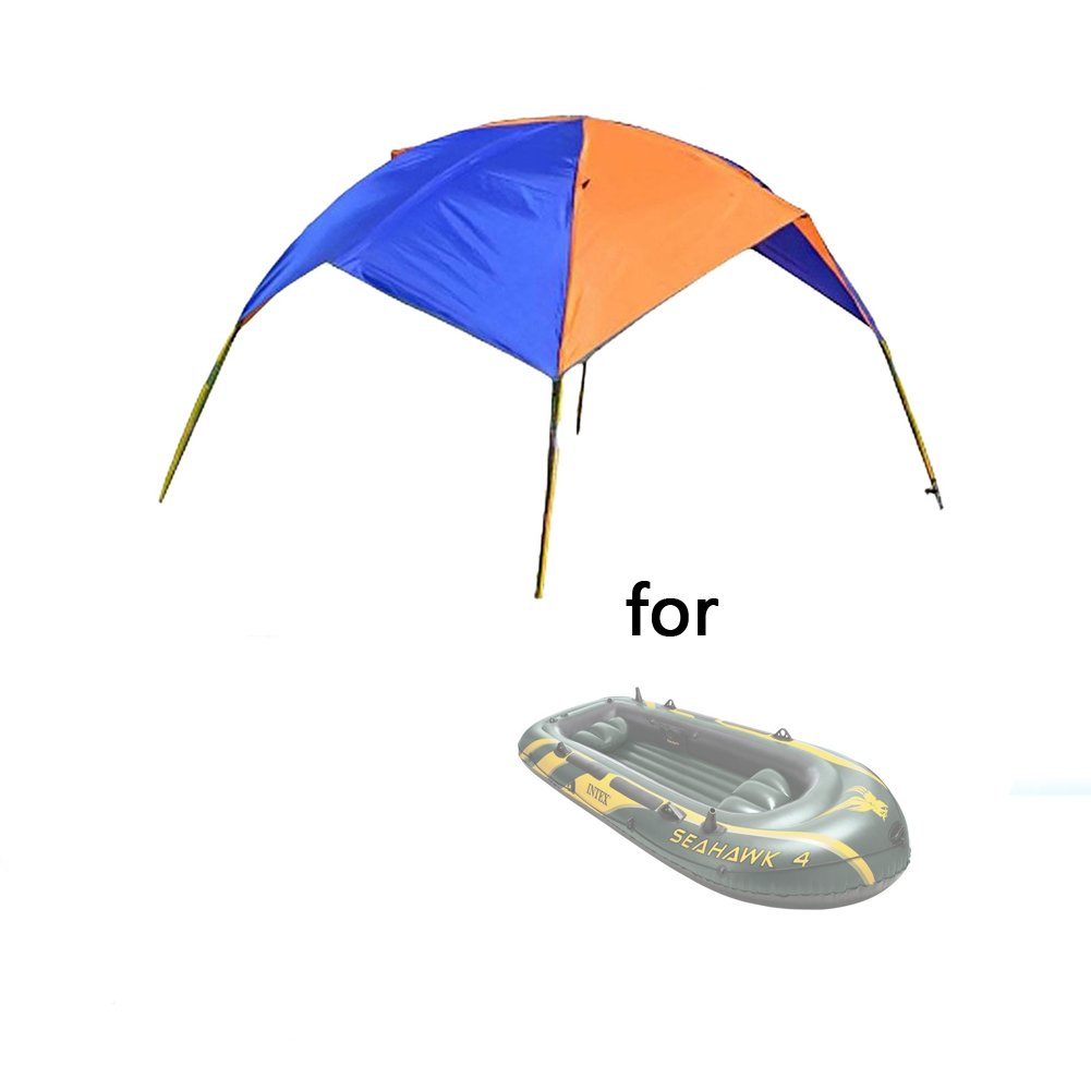 Asenart Portable Foldable Canopy for Inflatable Boat(4 Person)and Camping Sun Shelter Fishing Tent Sun Shade Canopy Awning (No Boat Included)