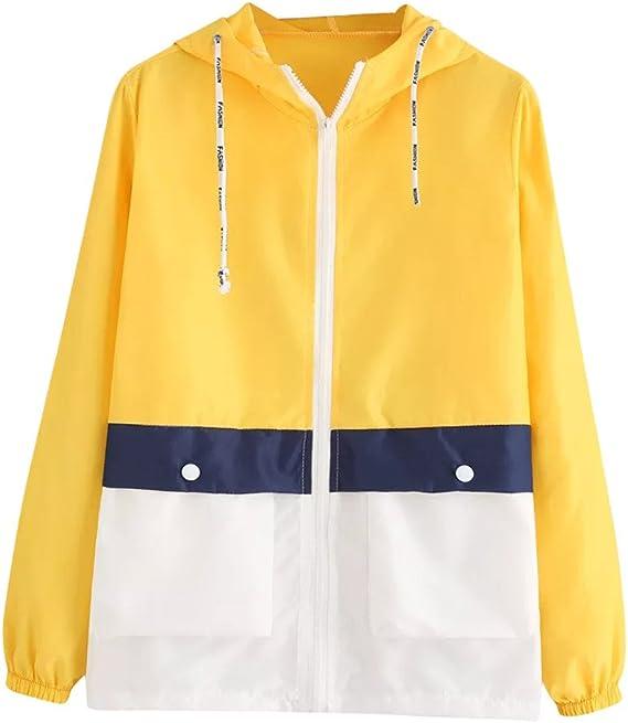 Blouson Poches avec Femme Mode KiyomiQaQ Zipper Patchwork TwkXZiuOP