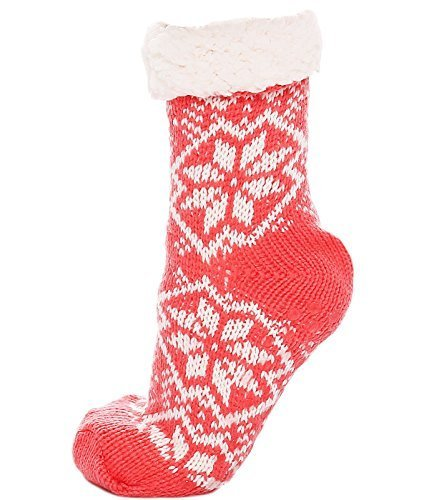 Maty Fashion cabaña Calcetines, zapatillas, calientes calcetines con ABS, innenteddyfell 217.99 Corall Talla