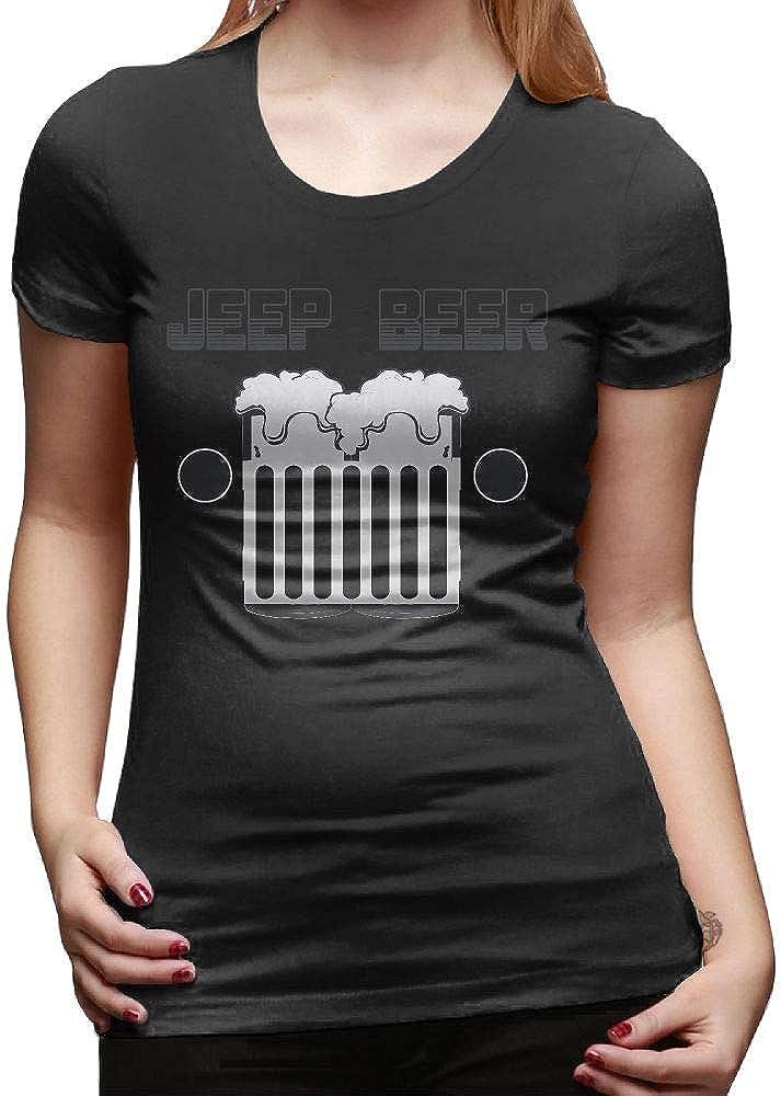 Women Tshirt Fashion Short-Sleeve Jeep Beer
