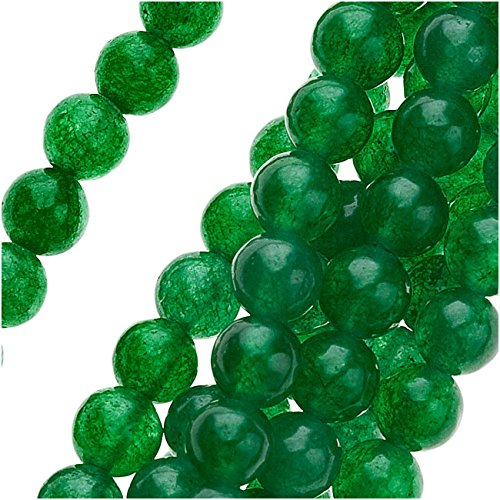 Green Candy Jade 4mm Round Beads / 16 Inch - Candy Jade Round Beads