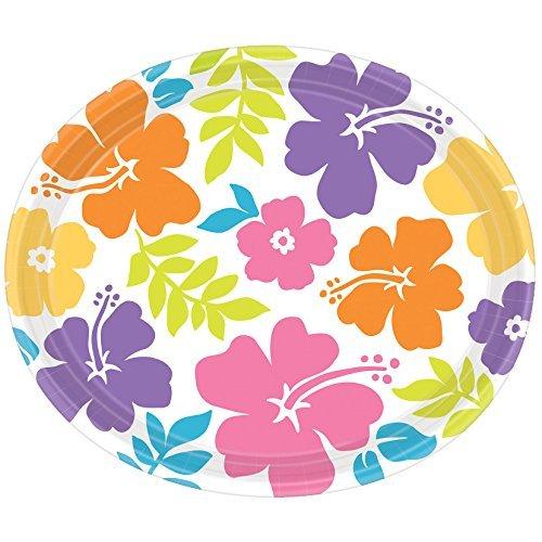 White Hibiscus Party Plates   16 Pk.
