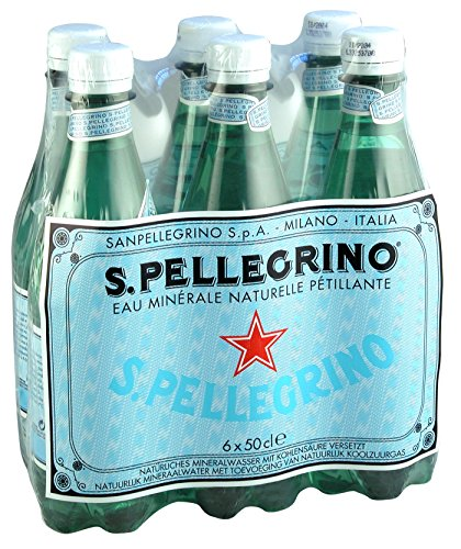 San Pelegrino - Agua mineral natural con gas, 6 botellas: Amazon.es: Alimentación y bebidas