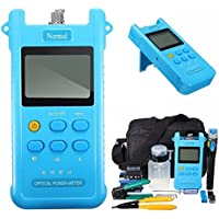 Signstek FTTH Fiber Optic Tool Kit with Optical Power Meter, Visual Fault Locator, Cable Cutter Stripper and FC-6S Fiber Cleaver