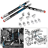 High Pressure Oil Pump HPOP Hoses Lines with Crossover Line for Ford Powerstroke 7.3L 1999-2003 (14 PCS)