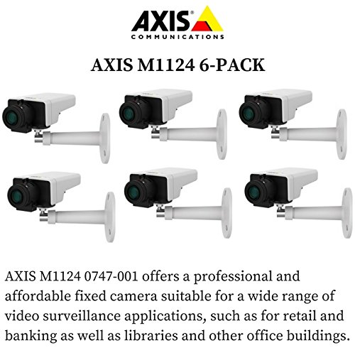 Axis M1124 6-PACK - 0747-001 Network Camera for Day/Night with HDTV 720p by Axis Communications