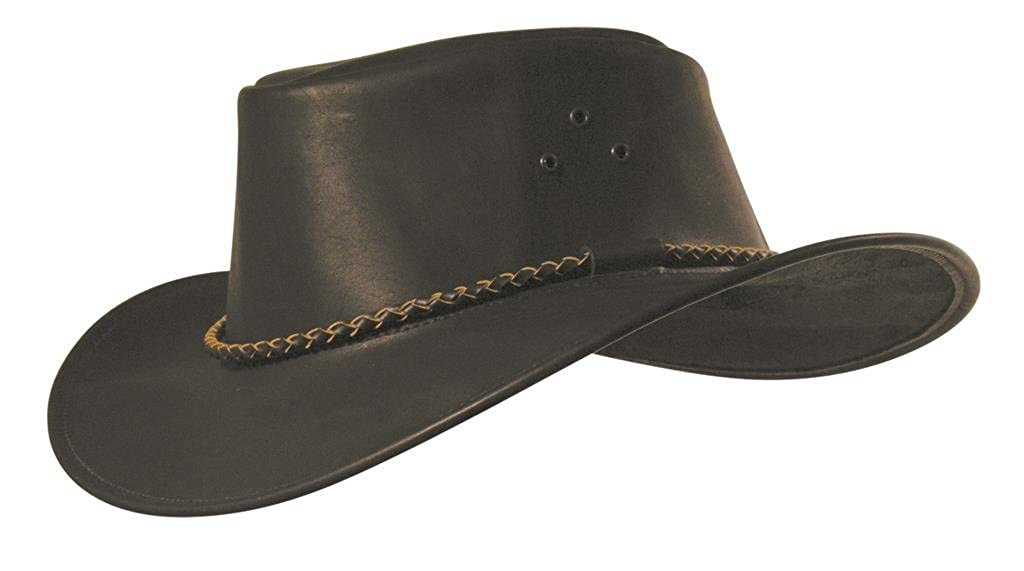 Classic Kakadu Packer Leather hat with Round Hatband KTA Black at Amazon  Men s Clothing store  9f05f706f7a