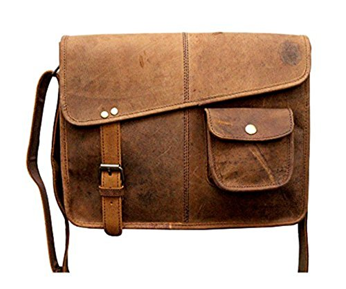 Handcrafted exports Rustic Buffalo Vintage Leather Shoulder Messenger Bag. by Handcrafted exports