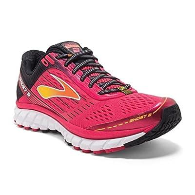 Brooks Women's Ghost 9 Azalea/Black/Cyber Yellow Running shoes - 11.5 B(M) US