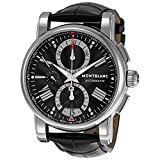 Montblanc Men's 'Star' Automatic Stainless Steel and Leather Dress...