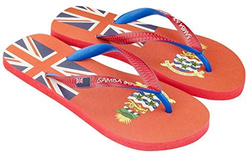 Samba Sol Hommes Collection Drapeau Flip Flops - À La Mode Et Confortable. Sandales À La Mode Et Classiques Pour Hommes. Îles Caïmans