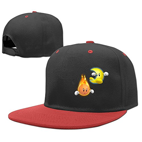 YELOFISH Kids' Hip Hop Baseball Caps Sun And Moon Snapback Hats