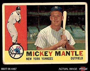 Amazoncom 1960 Topps 350 Mickey Mantle New York Yankees