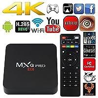 MXQ Pro TV Box Android 7.1, Smart Tv Box Quad Core 4K Ultra HD 1G/8G 64Bit Set Top TV Box with WiFi HDMI DLNA