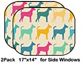 Liili Car Sun Shade for Side Rear Window Blocks UV Ray Sunlight Heat - Protect Baby and Pet - 2 Pack Image ID: 28458695 Funny Animal Seamless Vector Pattern of Dog Silhouettes Endless