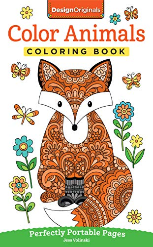 (Color Animals Coloring Book: Perfectly Portable Pages (On-the-Go! Coloring Book) (Design Originals) Extra-Thick High-Quality Perforated Pages in Convenient 5x8 Size Easy to Take Along Everywhere)