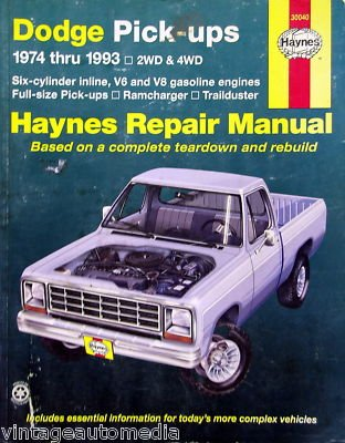 (1974-1993 Haynes Repair Manual - Dodge Pick-ups )