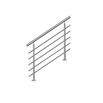 SAILUN 160cm pasamanos barandillas acero inoxidable con 5 postes parapeto,para escaleras,barandilla,balcón: Amazon.es: Bricolaje y herramientas