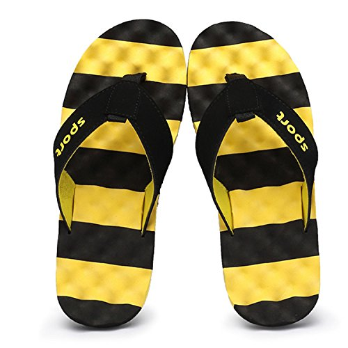 Hombre Aire Verano Fondo para Amarillo Plano Sandalias Al Playa de Libre CHNHIRA Zapatillas Transpirable dgnq1dz7