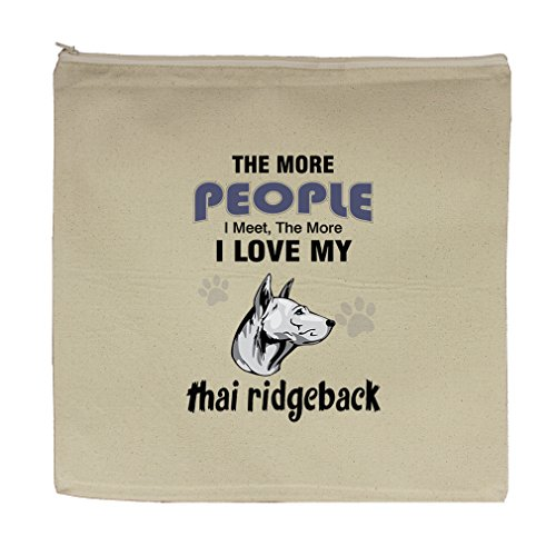 Canvas Zipper Pouch Bag 5.5''X7.5'' More People Meet Love Thai Ridgeback Dog by Style in Print