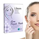 Liberex Acne Pimple Master Patch - 60 Spot Patches Hydrocolloid Absorbing Dressing Bandages Cover, Φ12mm, 20 Dots x 3 Sheets