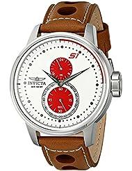 Invicta Mens 16018 S1 Rally Analog Display Japanese Quartz Brown Watch