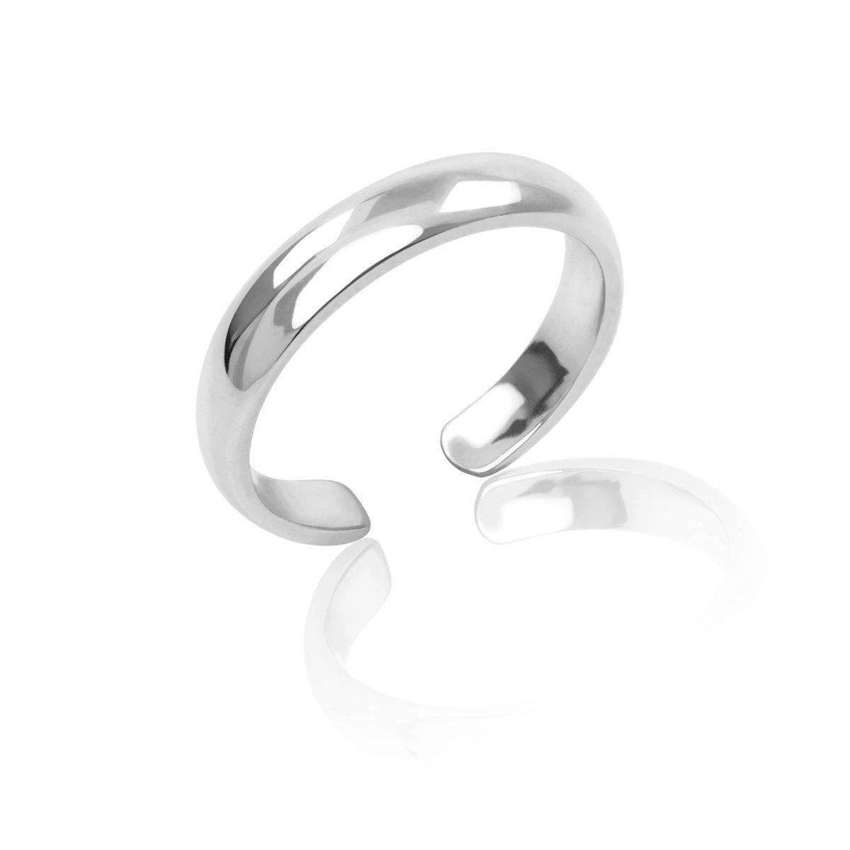 Honolulu Jewelry Company Sterling Silver Band Toe Ring (3mm)