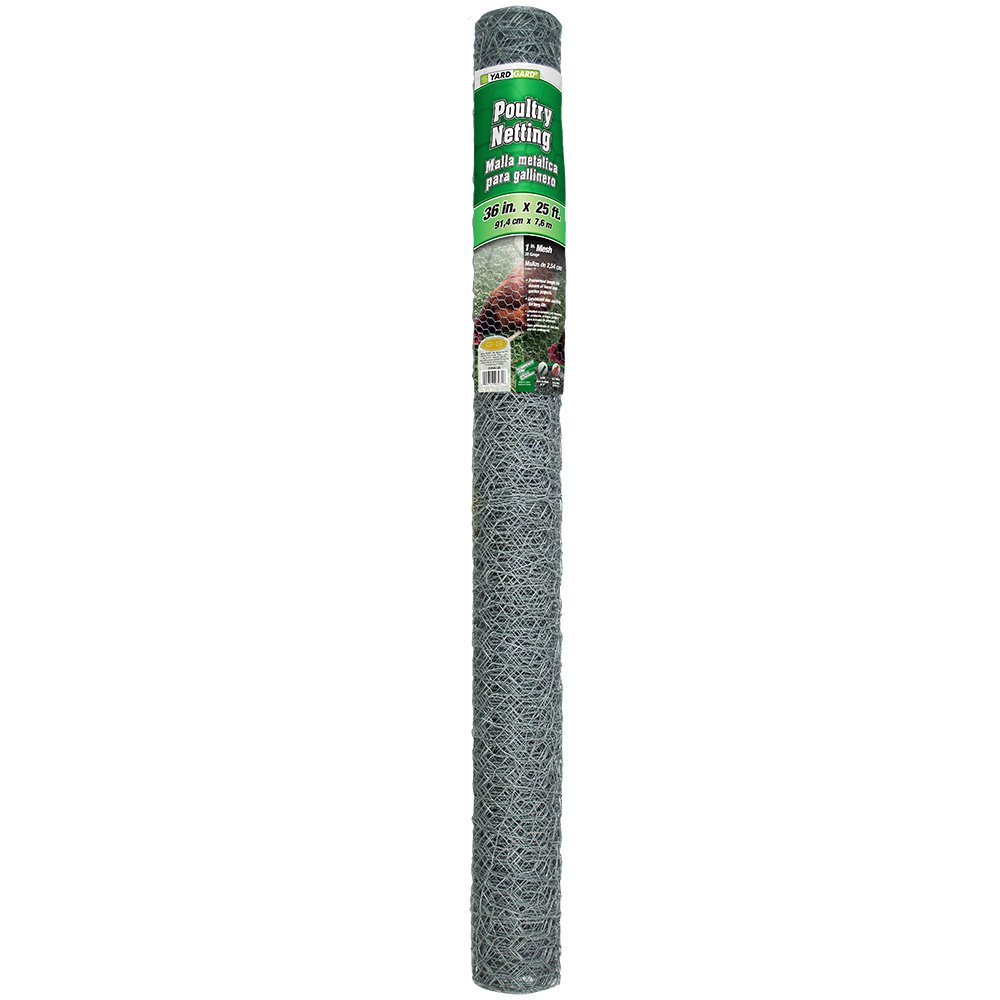 YARDGARD 308405B 3 Foot X 25 Foot 1 Inch Mesh Poultry Netting Midwest Air Technologies Inc