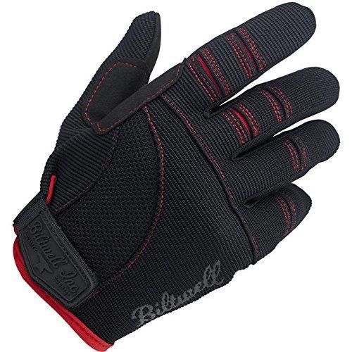 Biltwell Moto Gloves (schwarz ROT, Medium) by Biltwell