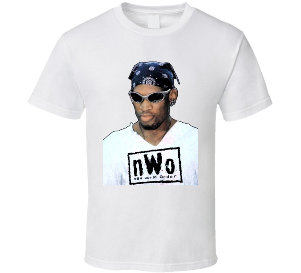 Dennis Rodman NWO WCW Wrestling T Shirt L White by The Village T Shirt Shop