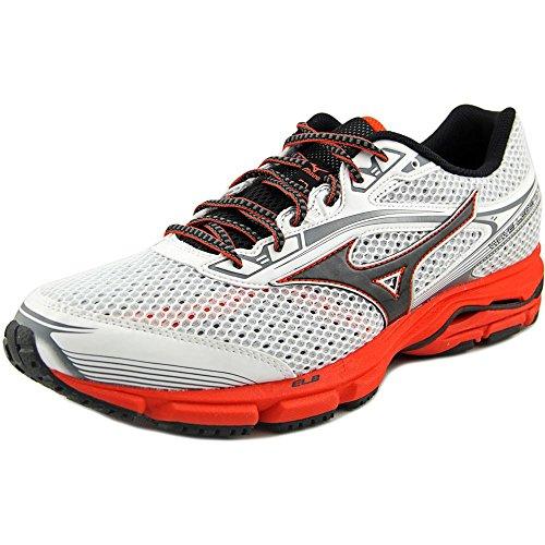 Mizuno Men's Wave Legend 3 Running Shoe, White/Black, 10 D US