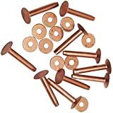 #9 Solid Copper Rivets and Burrs 20 Pack By Hill