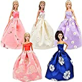 Yiding Lot 5 P 5x Fashion Handmade Clothes Dresses Grows Outfit for Barbie Doll thumbnail