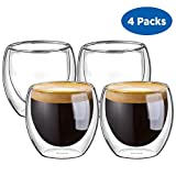 600 watt microwave - Ecooe Double Wall Espresso Cups 80 Milliliter/2.73 Ounce, Set of 4