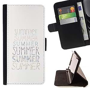 Momo Phone Case / Flip Funda de Cuero Case Cover - Texto verano minimalista White Sun Surf - Sony Xperia Z3 Compact