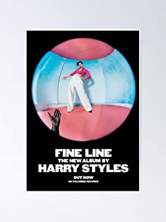 Amazon Com Harry Styles Fine Line Music Album Cover Poster And Prints Canvas Painting Art Wall Home Decor Print On Canvas 50x50cm No Frame Posters Prints