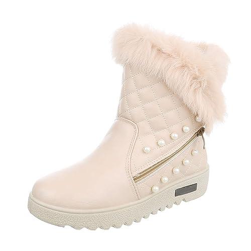 Zapatos para mujer Botas Plano Classic Botines beige Tamaño ...