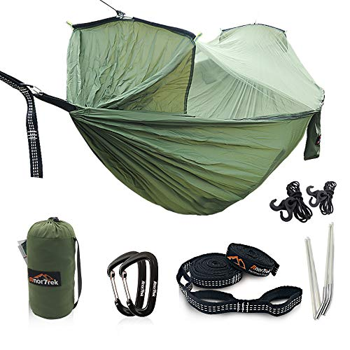 Loyal Portable Camping Hammock With Mosquito Net 1-2 Person Outdoor Hanging Bed Strength Swing Sleeping Bag Multifunction Lazy Bag Easy And Simple To Handle Camp Sleeping Gear