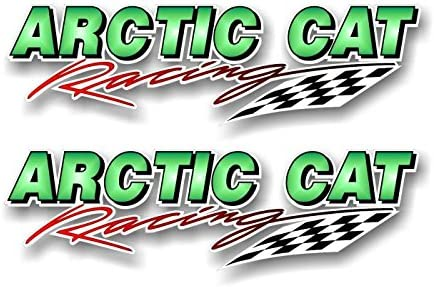 """2 ARCTIC CAT SWIPING 28/"""" Vinyl Truck Decals Snowmobile Sled Trailer Graphics"""