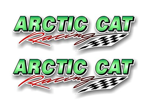 2 ARCTIC CAT Racing Vinyl Sticker Decals Graphics for Truck Snowmobile Sled Trailer Decal Stickers ((2) 3.5