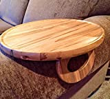 Sofa Arm Snack Tray Table -- Ambrosia Maple (Round)