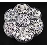 WellieSTR 1 Box 500PCS 7Size Round Wiggly Wobbly Googly Eyes ,Movable toy Eye For Scrapbooking Crafts 4mm,5mm,6mm,7mm,8mm, 10mm,12mm