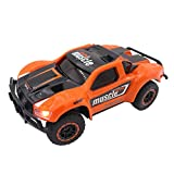 Image of SZJJX RC Cars 1/43 Scale 4WD High Speed Racing Trucks 9MPH+ 2.4Ghz Radio Remote Control RTR Fast Electric Race Power Vehicle with LED Headlight