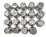 NEW Russian Tulip Tips Stainless Steel Icing Piping Nozzles Pastry Decorating Tips Cake Cupcake Decorator icing dispenser (19)