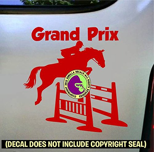 GRAND PRIX Spread Jump Hunter Jumper Vinyl Decal Sticker D
