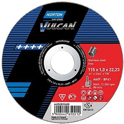 10 x NORTON Schruppscheibe gekröpft | 180x6,4x22,23 A 30 S Inox Vulcan Inox