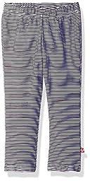 Zutano Baby Girls\' Stripe Skinny Legging, Black, 24M (18-24 Months)