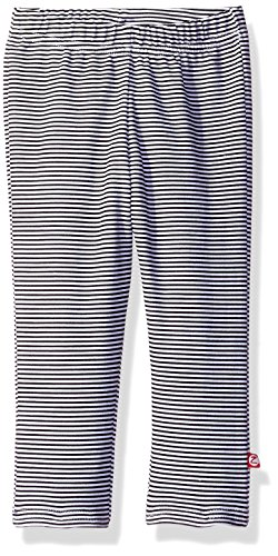 (Zutano Baby Girls' Stripe Skinny Legging, Black, 24M (18-24 Months))